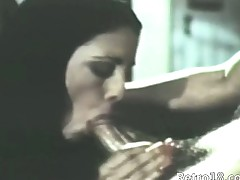 charmingly sexy retro blowjob