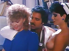 Kissing with two nurses