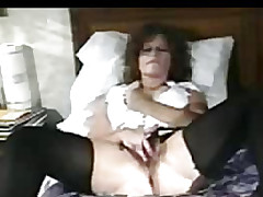 Chick on the bed licked his cock