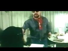 Classic German scene of office secretary having anal sex