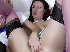 Blonde playgirl gets her pussy eaten out by hungry lesbian