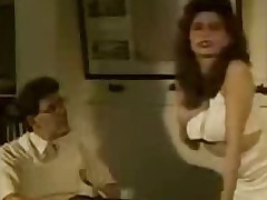 Retro porn with hairy bawdy cleft creampie