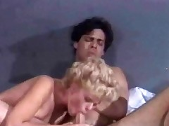 A blonde housewife has taken a handyman into her living room and tells him how wet that babe makes him. A little later they are on the bed where that babe sucks his dick. This chab then fucks her lengthy and hard, making her moan with pleasure.
