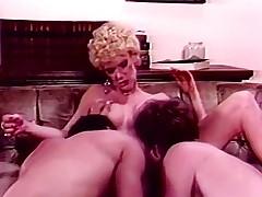 Tempting juvenile woman beaded on 2 members