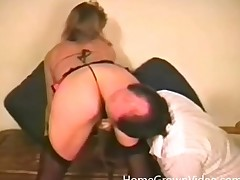 Hot chick in underware fondled by horny dude