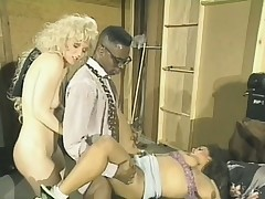Old school video of a couple of white bitches taking a large black dick