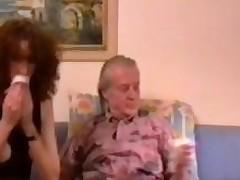 Horny geezer eats out bushy haired Daniela Wiener
