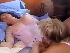 Woman tongue in oozing vulva