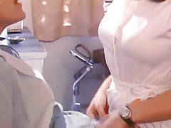 Mustachioed man kissing girlfriends wet crack