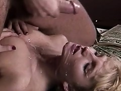Amazing blonde screwed by the cowboy in the saloon