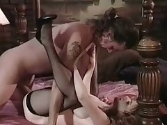 A naked guy is laying on a bed when an equally naked girl walks up to him. She leans forward so that guy can play with her tits. This chab licks her nipples, rubbing her pussy at the same time. A little later they move into 69 position, licking and suckin before that guy fucks her doggy style.