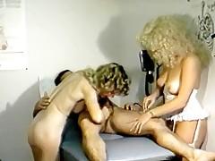 Boner treated by pair sexy nurses