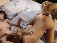 Gorgeous lesbian babes in group sex