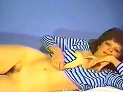 Vintage solo milf porn with hairy bush
