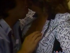 Horny couple fucking in this retro classic scene