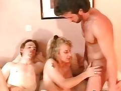 Attractive blonde whore blows hard shlong part2
