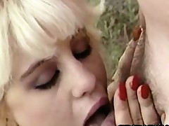 Barbi Dahl - Hungry Babe Outdoor Sucking A Small Dick