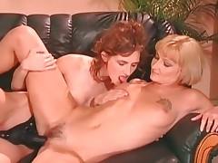 Two horny lesbian sluts enjoy