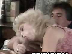 Barbi Dahl  Busty Blonde Beauty Riding An Old Cock