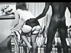 Vintage black and white interracial