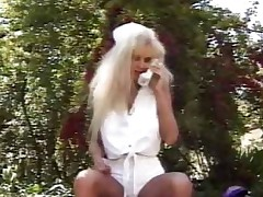 Nurse Outdoor Blowjob