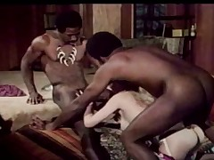 blonde get drilled by 2 black chaps part 2
