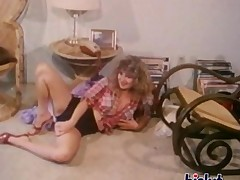 Vintage threesome action with hot babes