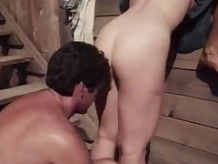 Rural milfs enjoy a backyard threesome
