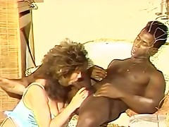 Bigtitted female funtime for ebony macho