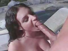 Hot horny slut sucks huge cock and acquires part1