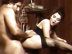 Two porn sluts sharing 2 big dicks