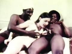 stunning retro threesome fucking
