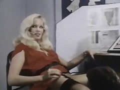 In this classic scene a guy calls his girlfriend at the telephone exchange, telling her what he is going to do to her that evening. The girl herself however is having it off with another guy at the same time, making her boyfriend's fantasies come true bef