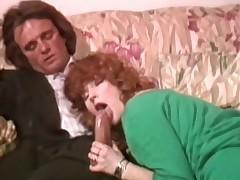 A gorgeous retro redhead shagging her horny boss hardcore