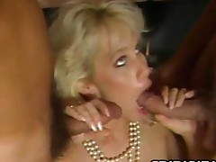 Bunny Bleu  Breasty Blonde Bitch On Two Cocks