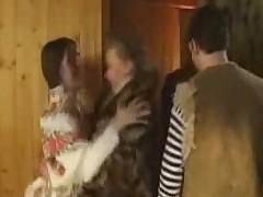 Russian orgy in sauna
