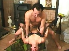 Vintage fuck in her hairy box with a BJ