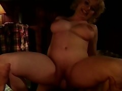 Dirty old lady teases a hung youthful dude into some rough screwing