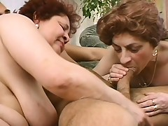2 mature ladies seduce a young stud to bring their sexual fantasies to fruition