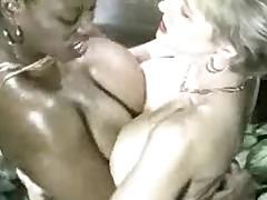 Ebony Ayes &, Danni Ashe Go Breasts-2-Breasts