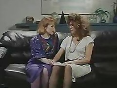 Retro Office Lesbians Cunt and Ass Licking Strap-On