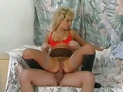 Brutal threesome with blonde part6