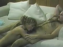 Blonde sucks dick satisfaction