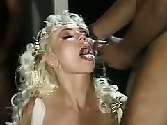 Mature Blonde In Interracial Gangbang Classic