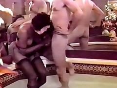 Hard dong for fat black retro ass