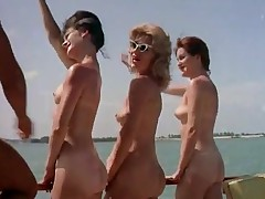 Unclothed Nudist Party Boat