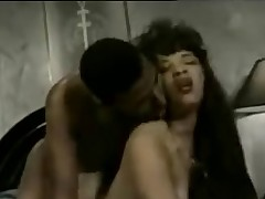 Hardcore swarthy cunt pounding classic sex tape on a ottoman