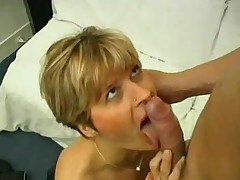 Horny milf with sexy nylons enjoys some sensual sex