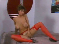 Christy Canyon spreads pussy for Ron Jeremy